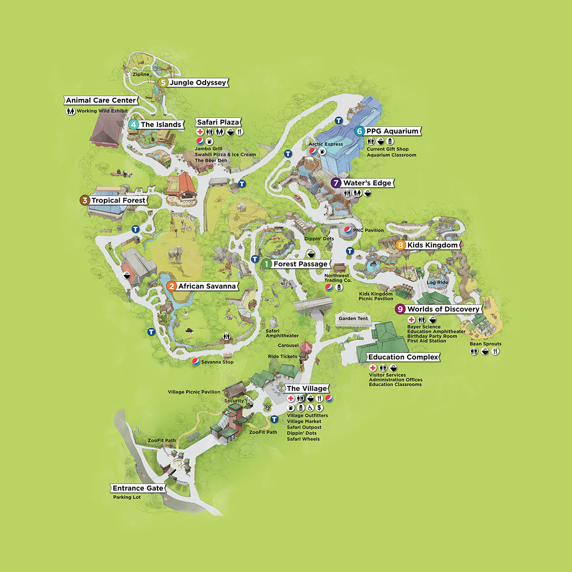 Map Pittsburgh Zoo Amp Ppg Aquarium